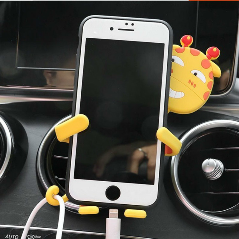 Car styling Car Interior Ornament Decoration Accessories Lovely Giraffe Support Bracket For Mobile Phone Holder In Vehicle in Ornaments from Automobiles Motorcycles