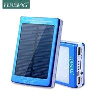 Solar Power Bank Real 15600mAh Dual USB External Battery Portable Charger Powerbank Solar Charger Bank For