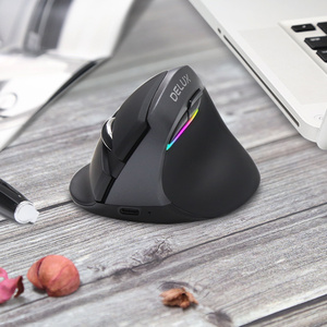Image 5 - Delux M618 Mini Ergonomic Mouse Gaming Wireless Vertical Mouse Bluetooth 2.4GHz RGB Rechargeable Silent Mice for Office