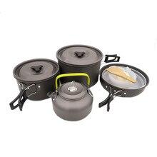 Походная посуда комбинированная посуда для пикника миска кастрюля набор кухонной посуды горшки и кухонные сковороды горячая распродажа