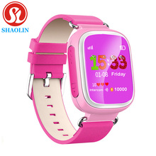 SHAOLIN Enfants GPS Smart Watch Montre-Bracelet SOS Appel Dispositif de Localisation Tracker pour Kid Safe Anti Perdu Moniteur Bébé Cadeau Q80 PK Q50 Q60