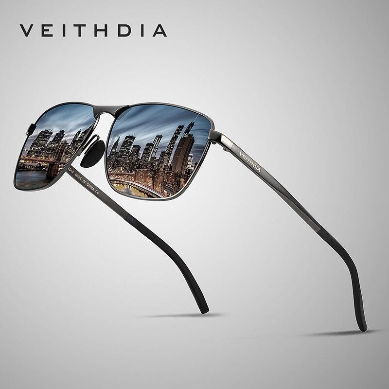 VEITHDIA Marke männer Vintage Quadrat Sonnenbrille Polarisierte UV400 Objektiv Brillen Zubehör Männlichen Sonne Gläser Für Männer/Frauen V2462