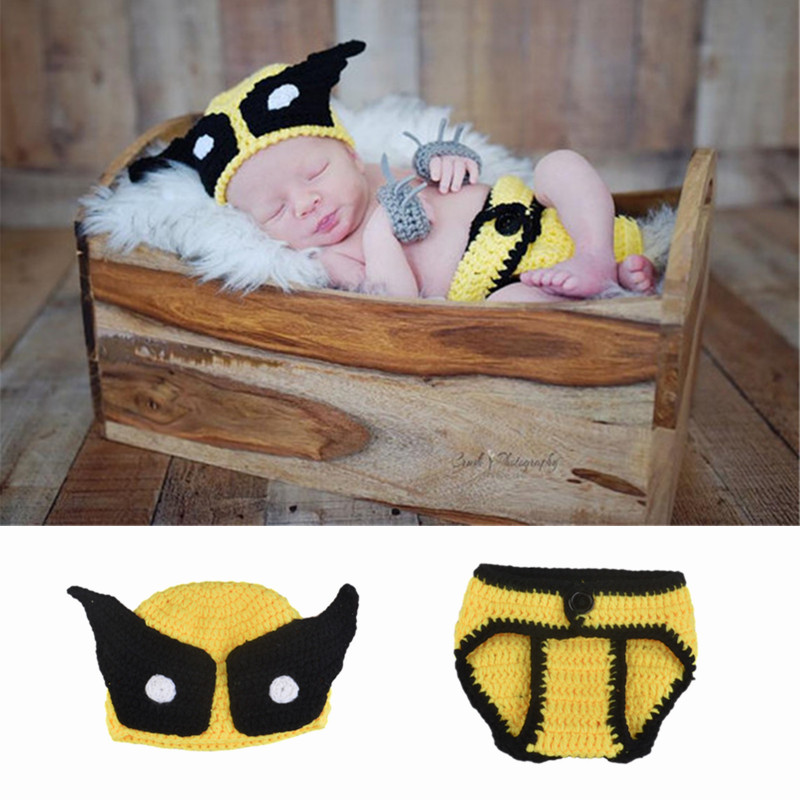 Knit Caps Beanie Hats Wolverine Superhero Trendy Soft Childrens