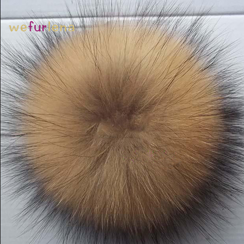 2017 New Adult Casual Winter Hat 10 Pcs 15cm 100% Real Raccoon Ball Genuine Pompom For Women Winter Keychain Beanies Hat 4pcs new for ball uff bes m18mg noc80b s04g