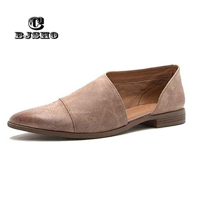 CBJSHO Quality 2018 Vintage Women Summer Sandals Fashion Leather Point Toe  Flat Sandals Woman Shoes 7a63e4c8e2af