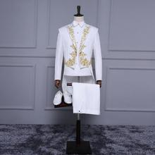 Palace style men's suit tuxedo high quality custom embroidery wedding the groom suit handsome two-piece Christmas dress