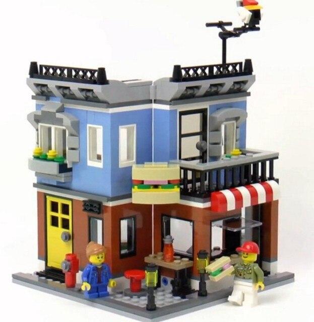 LEPIN 31050 City Creator 3 in 1 Corner Deli Building Blocks Bricks Kids  Educational Classic Model