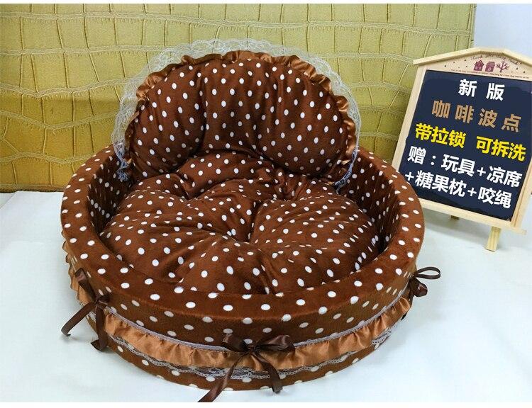 Pet house pet beds Soft and comfortable doghouse kennel Kitty Litter Cat nest detachable washable miniature pinscher 45 x 40 cm