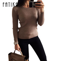 Colorful Apparel Womens Autumn Winter Cashmere Blended Sweater O Neck Pullovers Long Sleeve Jumpers Women S