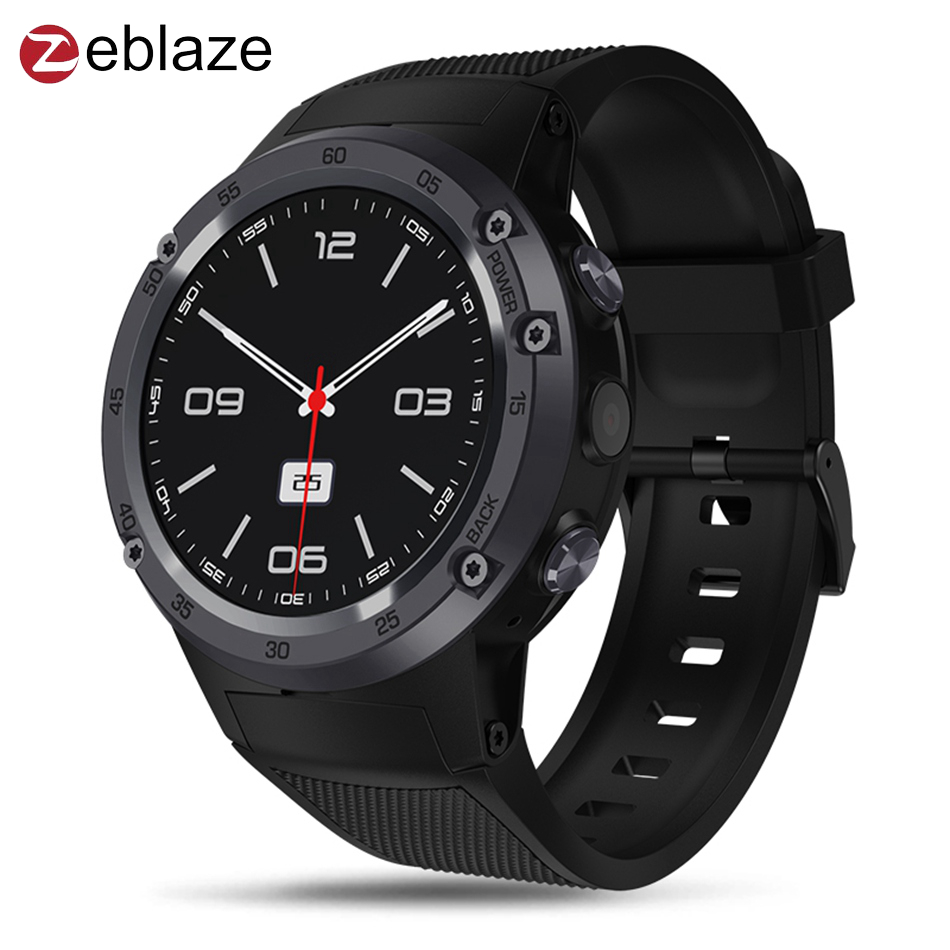 2018 Zeblaze Thor 4 4G LTE GPS WiFi Android Smart Phone Watch 1GB+16GB 5MP Camera Fitness Tracker Smartwatch Men Sports Flagship vernee thor 4g lte 5 0inch hd android 6 0 3gb 16gb smartphone