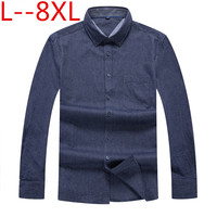 10XL 8XL 6XL 5XL 4XL long sleeve 100% cotton easy care Loose fit striped business men casual shirts high quality comfortable