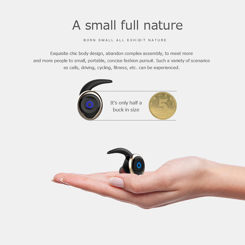 AWEI T1 TWS Bluetooth Earphone Ture Wireless Earbuds In-Ear Earpiece With Mic Stereo Mini Handsfree Headset For Phone With MIC 6