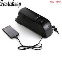 Free shipping 48v bottle battery e bike battery 48v 8ah lithium ion battery fit 48v bafang 8fun bbs02 motor