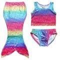 Girls Kids Swimmable Fashion Cartoon Swimwear Swimming Costume Set Lovely Cute Children Girls Clothes Sets