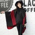 2017 Design Da Marca de Moda Cachecol de Caxemira Outono Inverno Mulheres Tarja Luxo Foulard Xale Pashmina Cape Cobertor Grandes Lenços de Tamanho