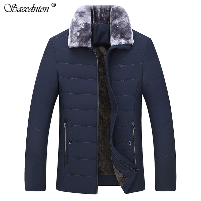 Men's Winter   Down   Jacket 2019 Brand New Middle-aged Father 90% White Duck   Down   Thicken Warm Male Business Casual   Coats   Clothing