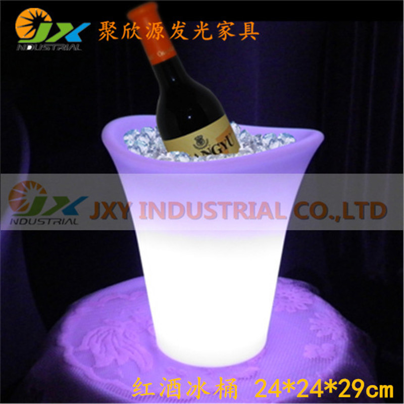 Color Changing Bars Nightclubs LED Light Up Champagne Beer Bucket Bars Night Party 5L Colorful Plastic LED Ice Bucket