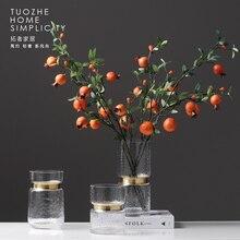 home decoration accessories Luxury Glass Vase Transparent Flower Arrangement Modern Simple Home Decoration