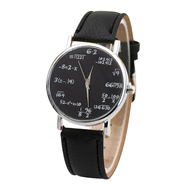 ed8bc6075f0 Mathematical Equation Watch Without Scale Belt Ladies Watch women s watches  female clock Relogio Feminino unique dial design