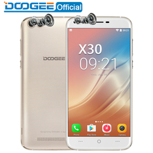 DOOGEE X30 Mobile phone Quad Camera 2x8.0MP+2x5.0MP Android 7.0 3360mAh 5.5'' HD MTK6580A Quad Core 2GB RAM 16GB ROM Smartphone