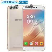 DOOGEE X30 Mobile phone Quad Camera 2x8.0MP+2x5.0MP Android 7.0 3360mAh 5.5'' HD MTK6580A Quad Core 2GB RAM 16GB ROM Smartphone