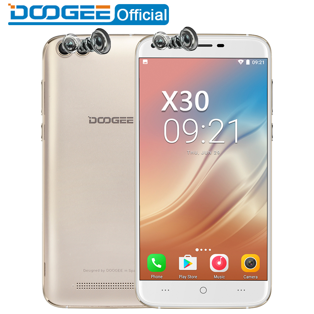 DOOGEE X30 Mobile phone Quad Camera 2x8 0MP 2x5 0MP Android 7 0 3360mAh 5 5