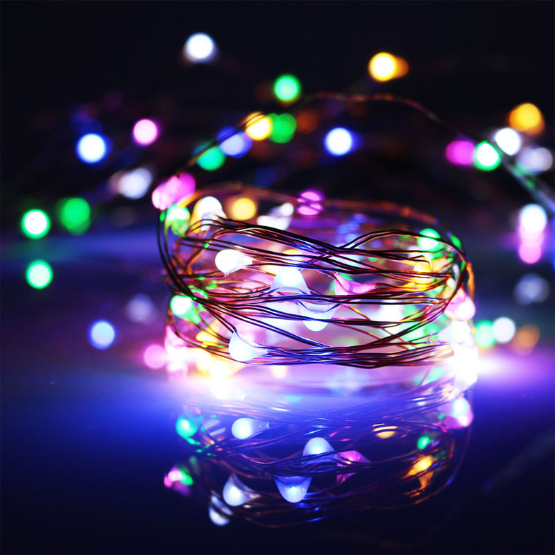 aliexpresscom buy 2x3m 30 led 3aa battery operated copper wire rice mini lights warm white christmas holiday party wedding decorative string light from - Battery Operated Mini Christmas Lights