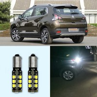 2pcs Brand New High Quality Superb Error Free 5050 SMD 360 Degrees LED Backup Reverse light Bulbs BA9S For Peugeot 3008