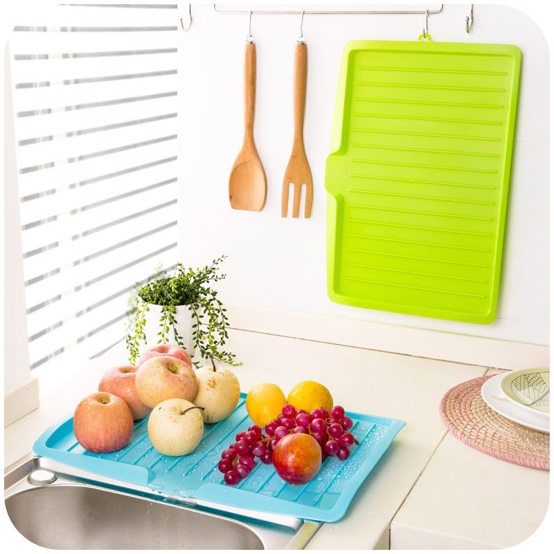 44.7x30.9cm Dishes Sink Drain Plastic Filter Plate Storage Rack Shelving Rack Drain Board Kitchen Tools E2S