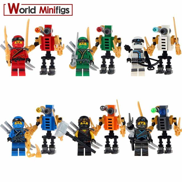 1Set of Ninja Model Building Block Classic Action toys for Children gifts with bricks ToysModel Building