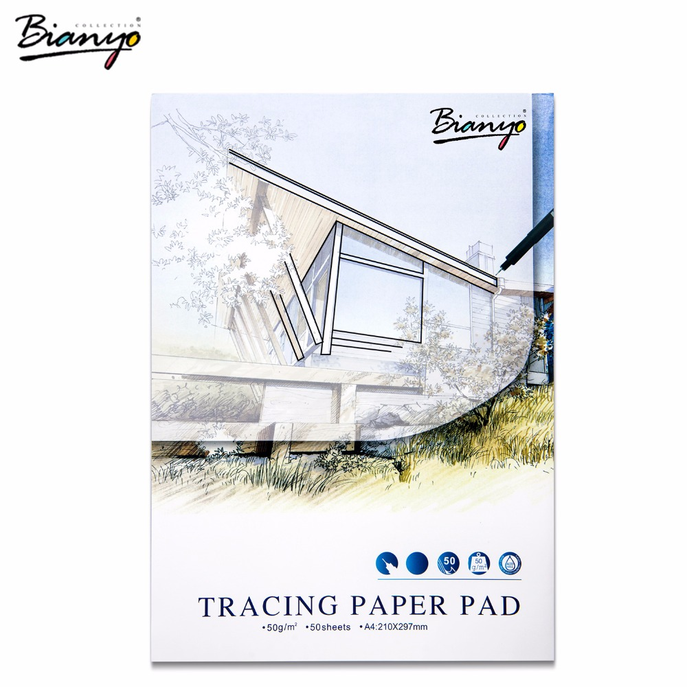 Bianyo Tracing Paper Pad Sketchbook A3/A4 Painting Notebooks Travel Office Paper For Diary Drawing Sketch Book School Stationery цена 2017