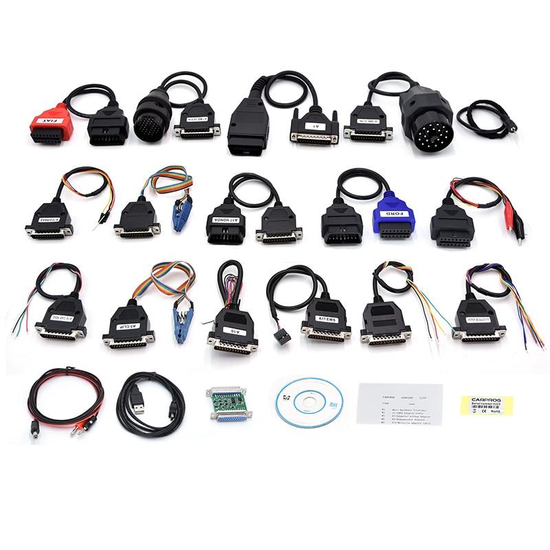 CARPROG Full Set V10 93 Programmer Auto Repair Airbag Reset Tools Car Prog  ECU Chip Tuning Full 21 Adapters