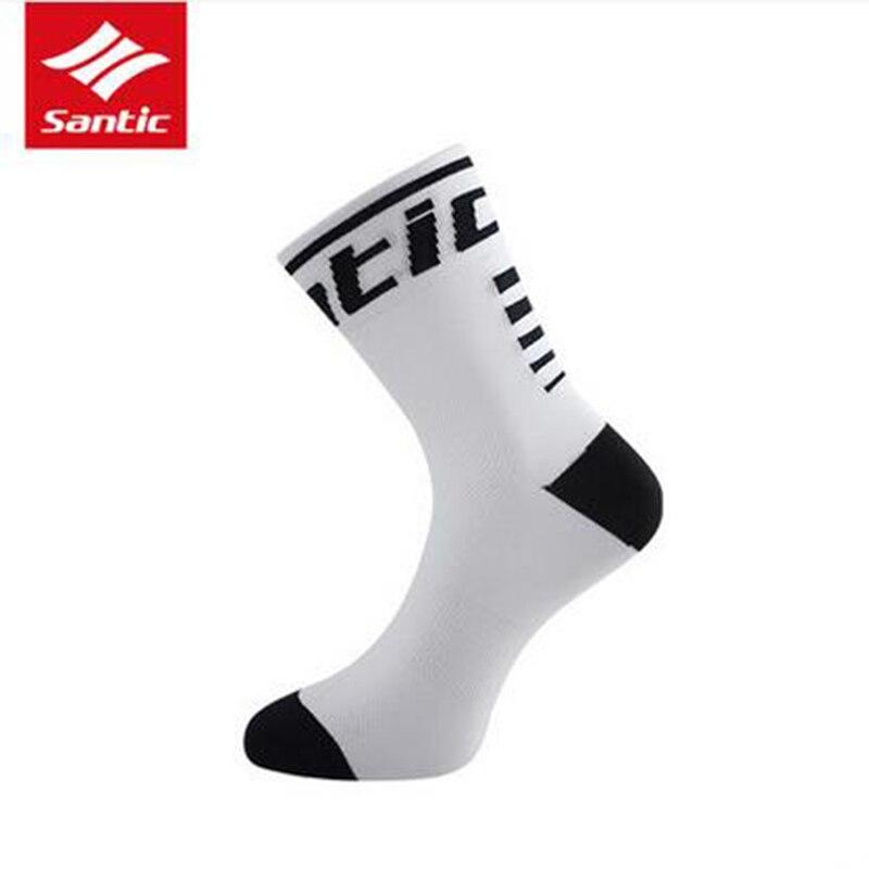 Santic Вело-носки Для мужчин Для женщин анти-пот Спорт на открытом воздухе Бег дышащая Спортивная Calcetines Велосипедный Спорт велосипед Meias sk0016