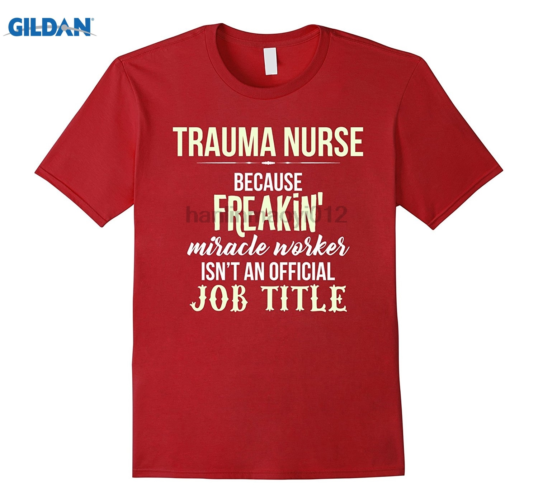 GILDAN Trauma Nurse T-shirt - Awesome miracle worker summer dress T-shirt