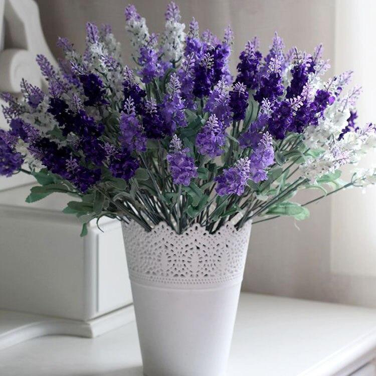 1 Bouquet Artificial Lavender Flowers Festival Party