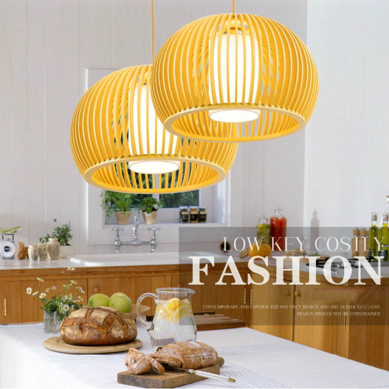 Modern Minimalist LED Chandelier Personality Creative Restaurant Living Room Bedroom Study Cafe Bar Solid Wood Light Fixtures