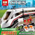 Lepin 02010 New Creator Series The High-speed Passenger Train Remote-control Trucks Set Building Blocks Bricks Funny Toys 60051