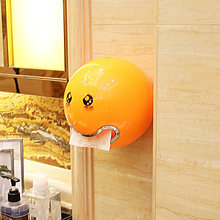 Cute Emoji Ball Shaped Toilet Bathroom Waterproof Roll Paper Box Holder Plastic(China)