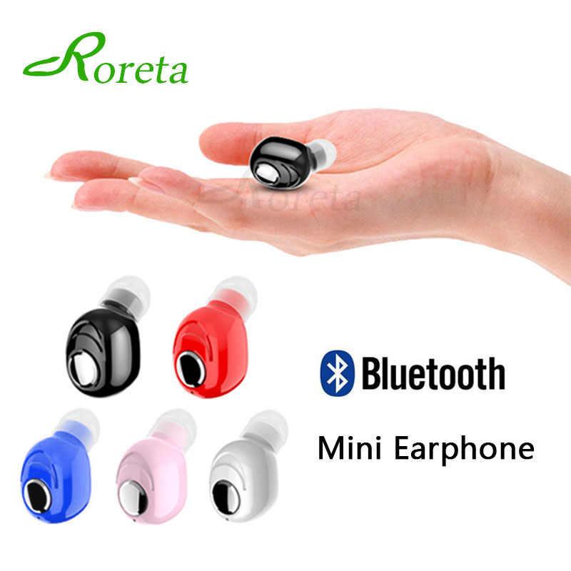 Roreta Mini bezprzewodowy zestaw słuchawkowy Bluetooth z mikrofonem zestaw głośnomówiący słuchawki douszne słuchawka Bluetooth 5.0 Sport zestaw słuchawkowy do iPhone'a XR Samsung