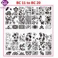 1 unids Nuevas Flores de Encaje de Mariposa 10 Diseños Nail Art Stamping Placas opcionales de Acero Inoxidable DIY Esmalte de Uñas De Impresión Plantilla
