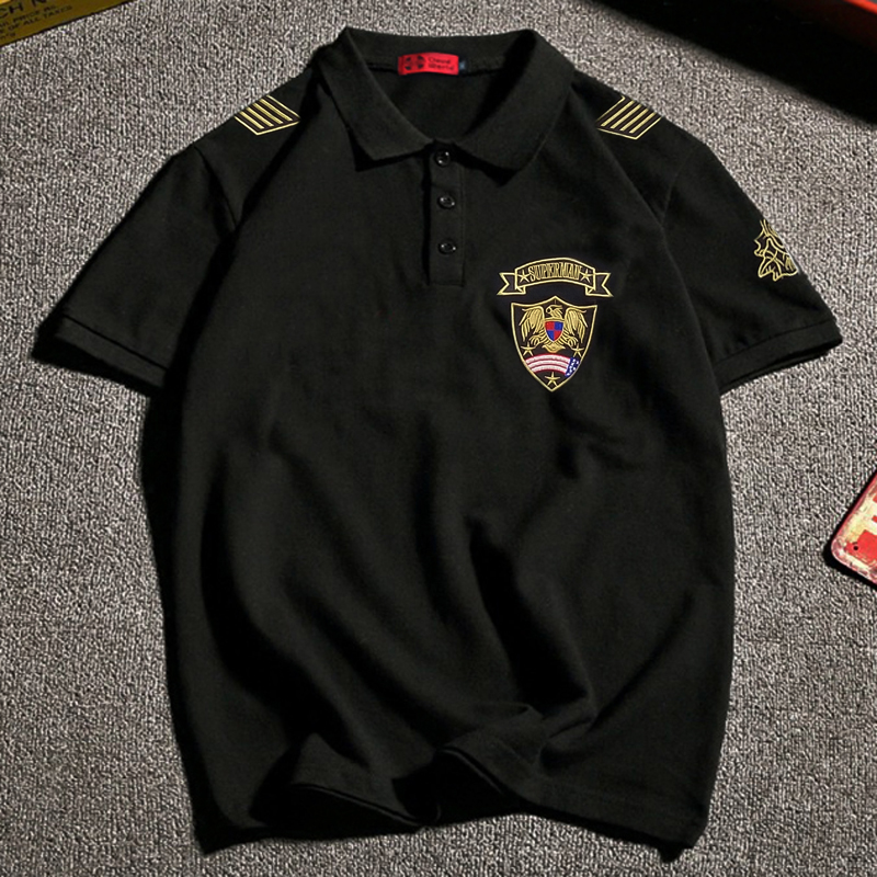 Xxl 8xl Plus Size Brand Polo Shirt Men Gasp Cotton Embroidery