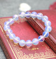 10mm Moonstone Natural Stone Stretched Beaded Bracelet for Women