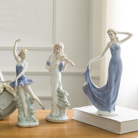 High Grade Contemporary Household Ceramic Crafts European Elegant Lady Figurine Wedding Beautiful Goddess Figure Sculpture