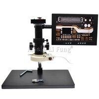 38MP 1080P 2K 1080P Elektronische Video Mikroskop Video Kamera HDMI USB Lupe + 10X 300X Zoom C  mount Objektiv + LED Licht + Halterung-in Mikroskope aus Werkzeug bei