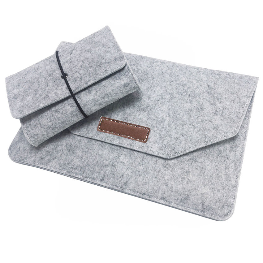 Luxury Laotop Bag Wool Blanket For Macbook Air 13 11 Pro 13 With Retina 13 15 12 Laptop Sleeve 13.3 15.6 inch and Cable Bags
