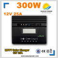 Venta caliente Regulador Solar Controlador de Carga Solar MPPT 25A LCD Regulador Solar 300 W Cargador Solar 12 V Carga de La Batería controlador