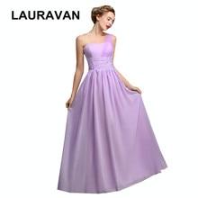 one shoulder light purple blue gray fall fashion plus size bridesmaid dress  long bridesmaides dresses chiffon bridal gown cc244fd7edeb