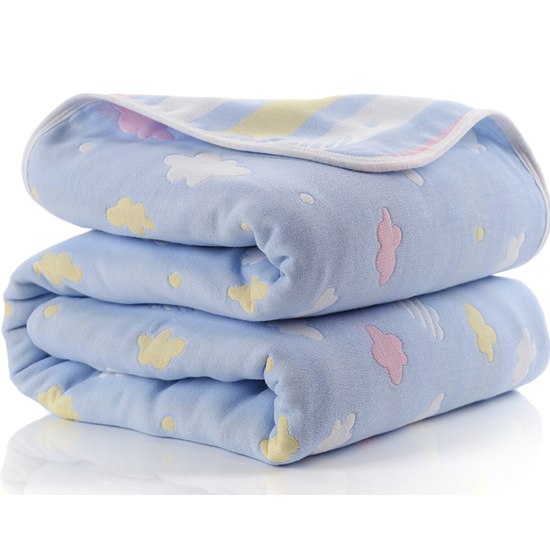 Baby Blanket 110 CM Muslin Cotton 6 Layers Thick Newborn Swaddling Autumn Baby Swaddle Bedding Receiving