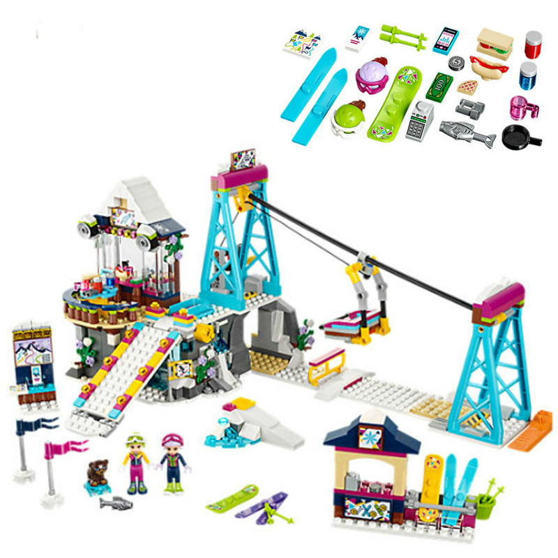 01042 Friends Snow Resort Ski Lift Gift Club Ski Vacation Skiing Figure Building Blocks Bricks Toys Compatible with Legoe футболка picture organic ski resort black