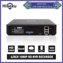 H.264 VGA HDMI 4/8CH ВИДЕОНАБЛЮДЕНИЯ NVR 4 Канала Мини ВИДЕОРЕГИСТРАТОР 1080 P ONVIF 2.0 Ip-камера Системы Безопасности Для 1080 P Камеры Hiseeu